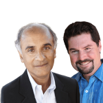 Pico Iyer and Michael Shapiro